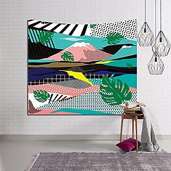 Amazon Com Hysenm Tropical Plant Monstera Tapestry Banana
