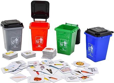 APRENDE JUGANDO: Recicla y clasifica desechos en lengua Inglesa. Juego de mesa con diseño y reglas s