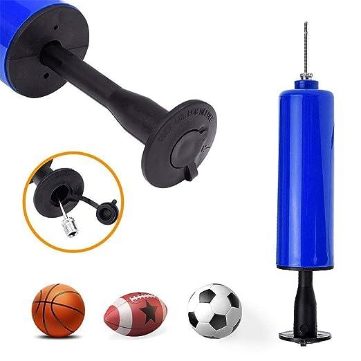 Newest 1 Pc Blue Football Inflatable Ball Hand Air Pump Ball Inflator Applied