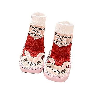 4606e870a2520 Auxma Cartoon Toddler Enfants Bébé Anti-dérapant Sock Chaussures Bottes  Pantoufle Chaussettes pour 0-
