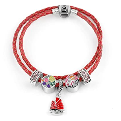 Amazon.com: ChuangYing Sailing Pendant red Double Ring ...