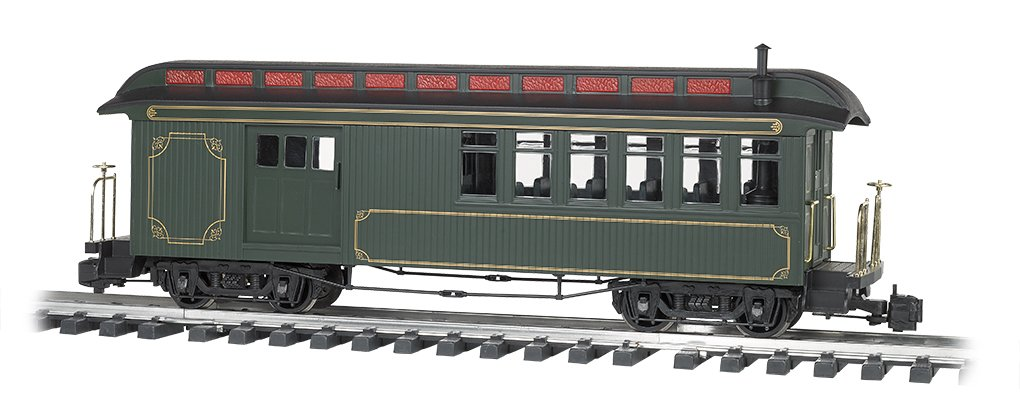 Train Passenger Car Jackson Sharp Passenger Car Combine Painted Unlettered Olive With Gold Lining Large Scale