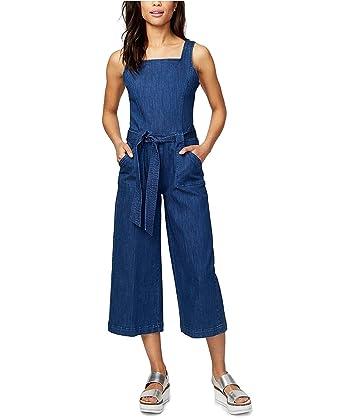 c691c43c1857 Image Unavailable. Image not available for. Color  RACHEL Rachel Roy  Women s Wide-Leg Overalls Venetian Blue 14