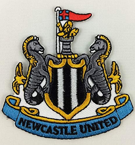 (Embroidery Patch Newcastle United Football Club Soccer Badge Applique 2 5/8