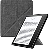"""Fintie Origami Case for Kindle Oasis (9th Gen, 2017 Release ONLY) - Slim Fit Stand Cover Support [Hands Free] Reading with Auto Wake / Sleep for Amazon All-New 7"""" Kindle Oasis, Denim Charcoal"""