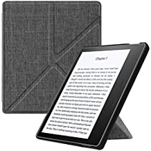 "Fintie Origami Case for Kindle Oasis (9th Gen, 2017 Release ONLY) - Slim Fit Stand Cover Support [Hands Free] Reading with Auto Wake / Sleep for Amazon All-New 7"" Kindle Oasis, Denim Charcoal"