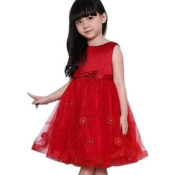 Moin La boda vestido rojo de Corea falda de gasa para niñas chicas se vebda bien