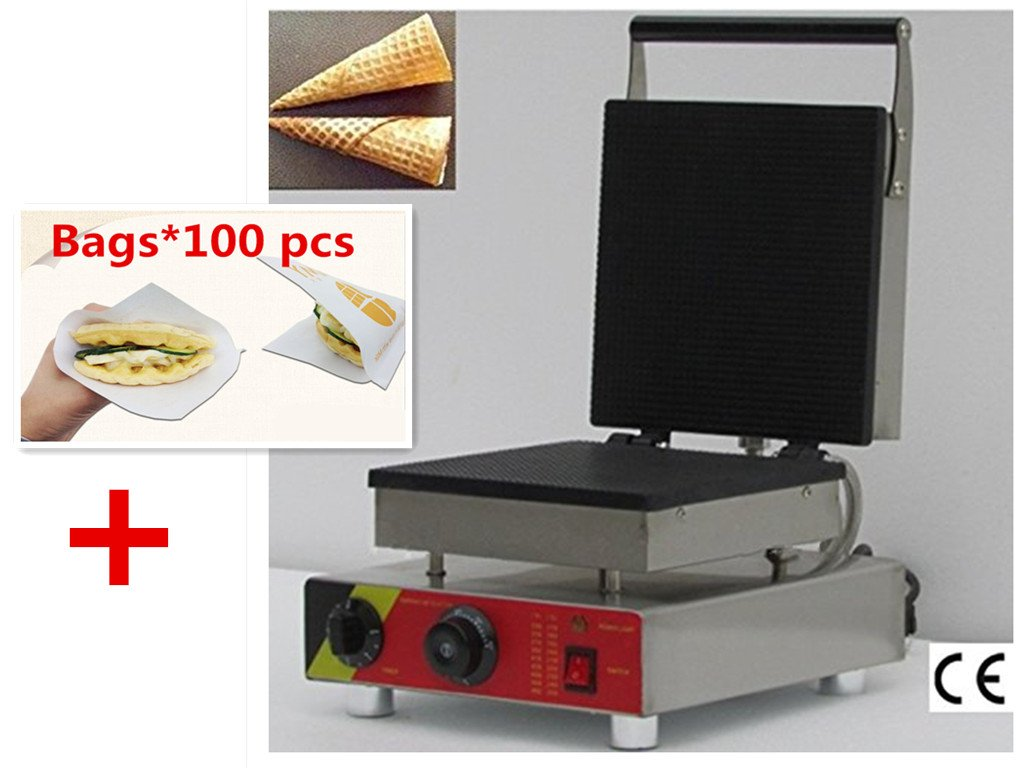 NP-517 ice cream cone machine cone maker Crispy Ice Cream waffle machine 1.5KW with 100 pcs Bags for Free (220V)