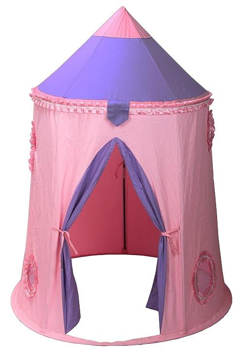 Langxun Tienda de campaña para niños Teepee plegable - Pink Princess Castle Tienda de campaña para