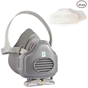 Yocome Half Face Anti-Dust Respirator Máscara de seguridad con correa ajustable para la pintura