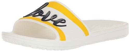 40a600cd281b crocs Women s Drew Barrymore Sloane Graphic Slide  Amazon.in  Shoes ...