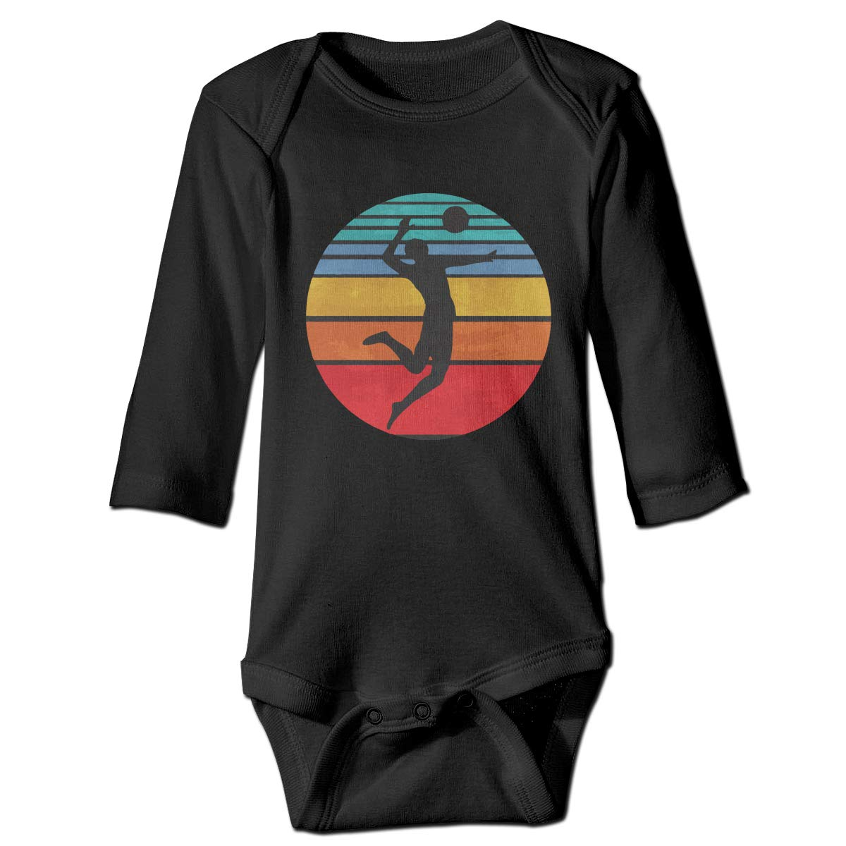 CZDedgQ99 Baby Boys Volleyball Long Sleeve Climbing Clothes Playsuit Suit 6-24 Months