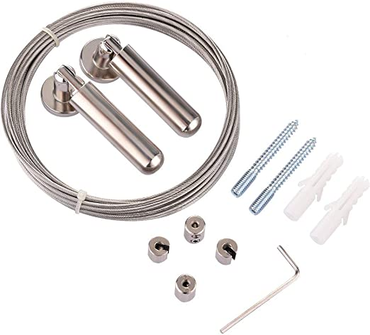 Acero Inoxidable, Cable met/álico, para Interior y Exterior, Ropa, 5 m Cuerda para la Ropa Ototon