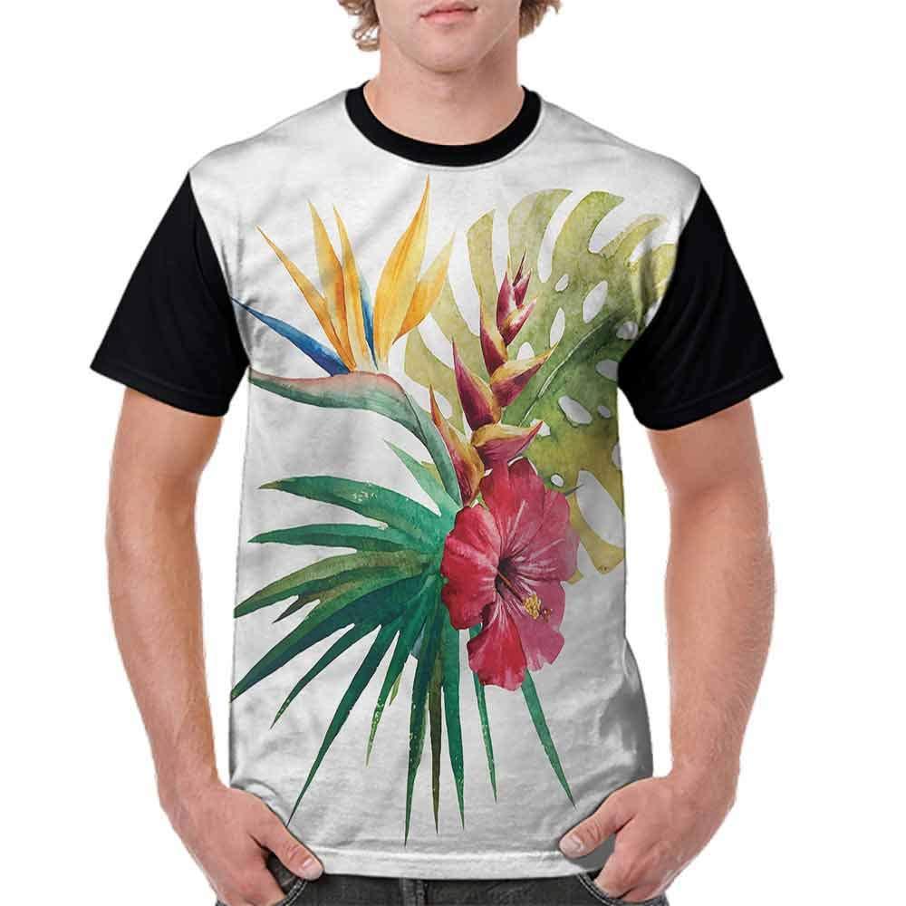 BlountDecor Printed T-Shirt,Wild Tropical Orchid Fashion Personality Customization