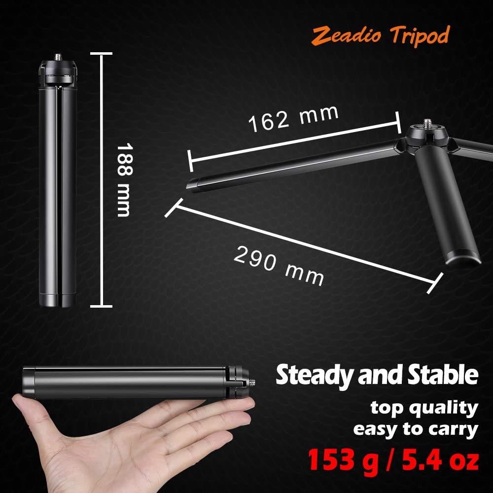 Vimble 2 support de table de bureau tr/épied pour lisse 4 Ronin-s Osmo Mobile imitation Poign/ée grip Stabilisateur et tous les appareils photo Plus 2 de grue de grue Zeadio Mini tr/épied en m/étal