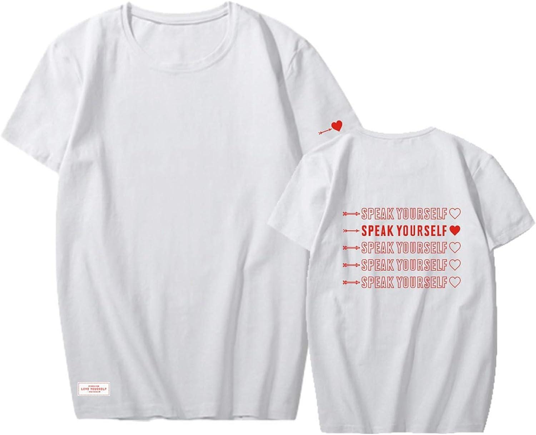 Yicool BTS Map of The Soul Shirt Persona T Shirt Bangtan Boys 2019 World Tour Merch Kpop Tee Tshirts Casual Tops