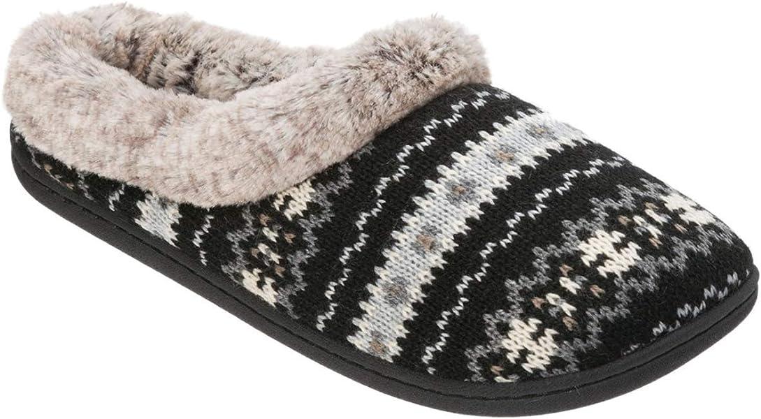 5821171c81f4ac Dearfoams Womens Knit Clog Memory Foam Slipper (Medium 7-8 B(M