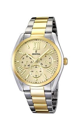Festina F16751/2 - Reloj de Pulsera Hombre, Acero Inoxidable Chapado, Color: Amazon.es: Relojes