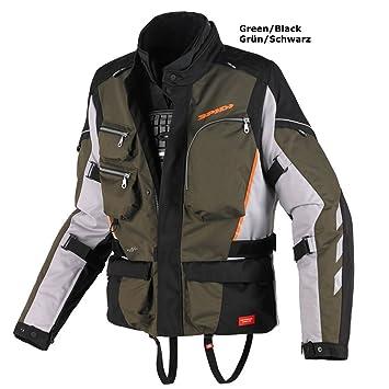 Spidi Voyager 3 - Chaqueta para moto, textil XXL Verde scuro/Nero/arancio: Amazon.es: Coche y moto
