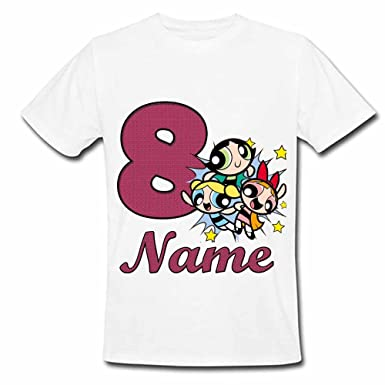 9b4b4f9f Sprinklecart Personalized Birthday Dress | The Powerpuff Girls Name Printed  Kids 8th Birthday T-Shirt