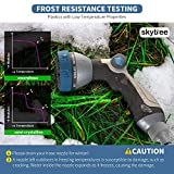 Skytree Hose Nozzle Garden, Metal Spray Nozzle High Pressure, 8 Patterns Thumb Control for Watering, Washing