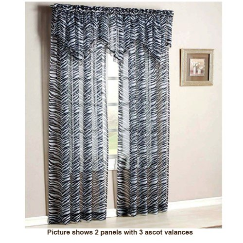 Kenya Zebra Window Sheer Panel, 63