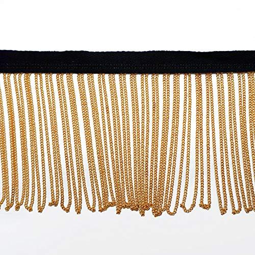 - Metal Gold Chain Fringe Trim by Yard, TR-11905