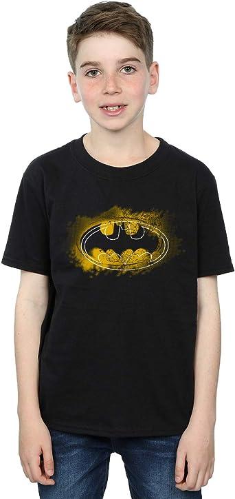 DC Comics niños Batman Spray Logo Camiseta: Amazon.es: Ropa y accesorios