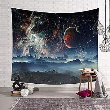 Galaxy Star Tapiz Dormitorio Albergue Sofa Manta Manta, Mantel, Toalla De Playa, Fondo