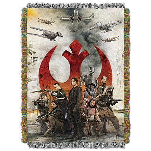 Star Wars Rouge One, Rouges Woven Tapestry Throw Blanket, 48
