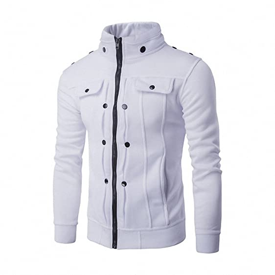 Color Casual Coats Solid Jackets Coat Slim Minus Cotton Jacket Stand Basic Collar Mens Male Zipper A1qp4gKIAx
