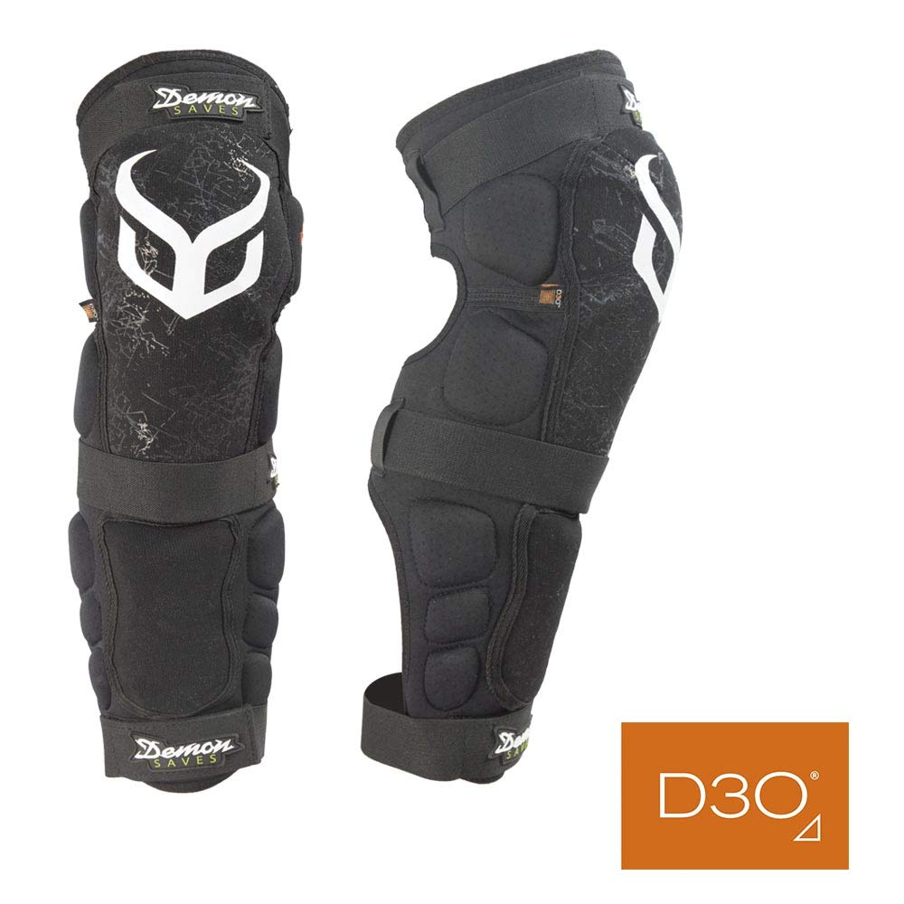 Demon D3O Hyper Knee/Shin Mountain Bike Knee Pads- D30 Knee Pads and Shin Pads for MTB/BMX/Snowboard/Motorcycle Knee Pads- Come as a Pair (XL)