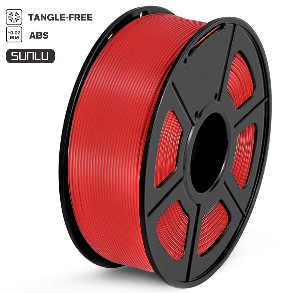 Imprimante 3D ABS Filament 1kg Spool ABS transparent SUNLU Filament ABS 1.75mm Pr/écision dimensionnelle +//-0.02 mm