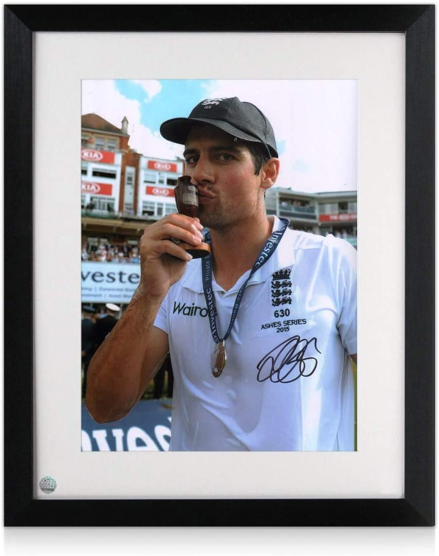 Ashes Winner Exclusive Memorabilia Sir Alastair Cook Signed Cricket Photo Framed