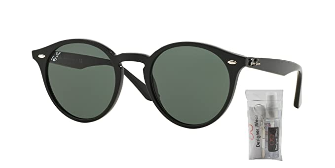 c11aa2afdcf Amazon.com  Ray Ban RB2180 601 71 49M Black Grey Green Sunglasses For Men  For Women  Clothing