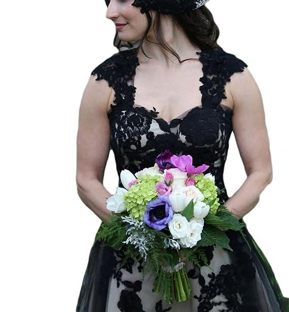 Amazon.com: veilace, color blanco y negro de la mujer boda ...