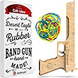 iSottcom Rubber Band Gun Boys Toys for Outdoor Indoor Games – Wooden Toy Guns – Best Gift for Men – Wooden Pistol for Shooting Game – Kids Toys for Pretend Play – Toy Gun Desert Eagle