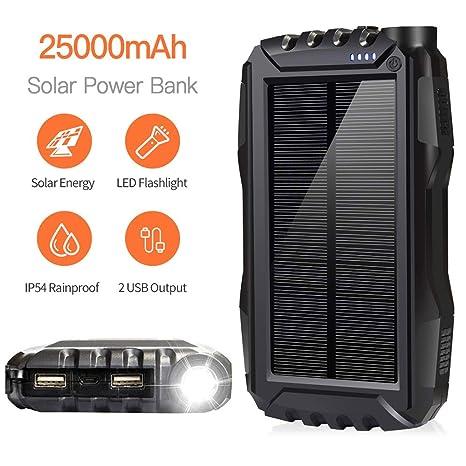 DEVEL Cargador de teléfono Solar, Banco de energía Solar ...