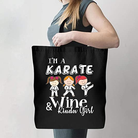 Karate girl wine