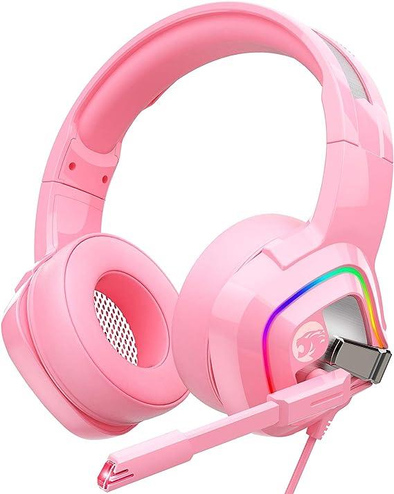 ZIUMIER Z66 Pink Gaming Headset