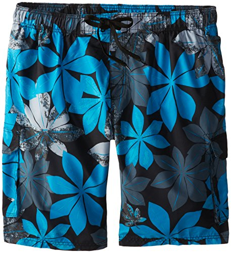 Kanu Surf Men's Big Pismo Extended Size Swim Trunk, Blue, 3X