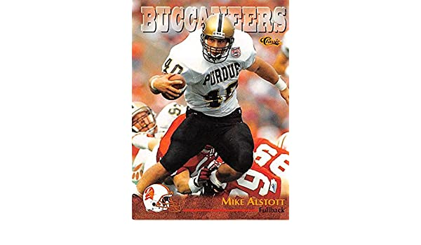 Mike Alstott football card (Tampa Bay Buccaneers Purdue Boilermakers) 1996  Classic  49 Rookie at Amazon s Sports Collectibles Store a5bdb09e8