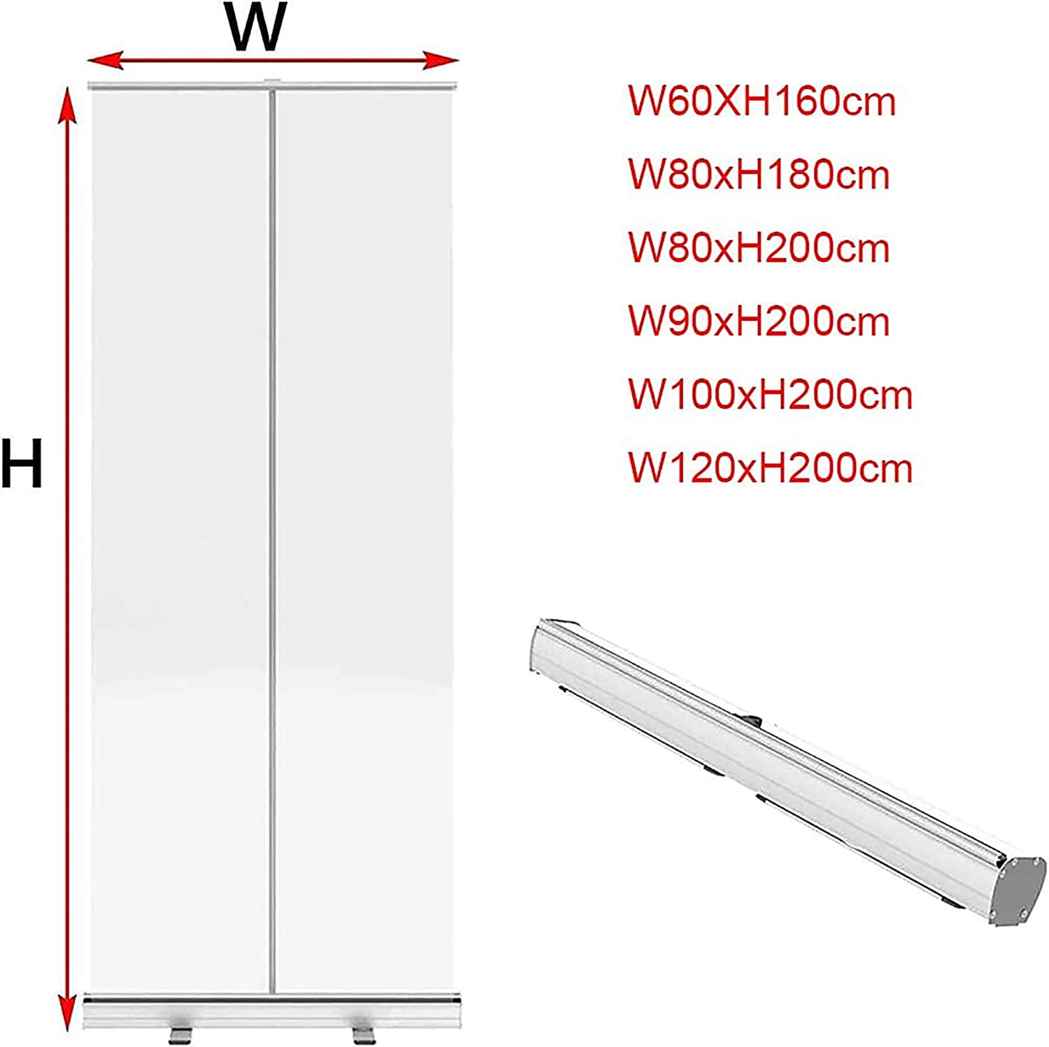 with All Aluminum Stand 80x180cm Carry Bag PVC Film Hygiene Partition ZYLR Clear Plastic Screen Partition Screen Pull Up Banner Transparent Protective Social Distancing Shield,