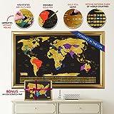 Scratch off World Map + Scratch off USA Map Travel