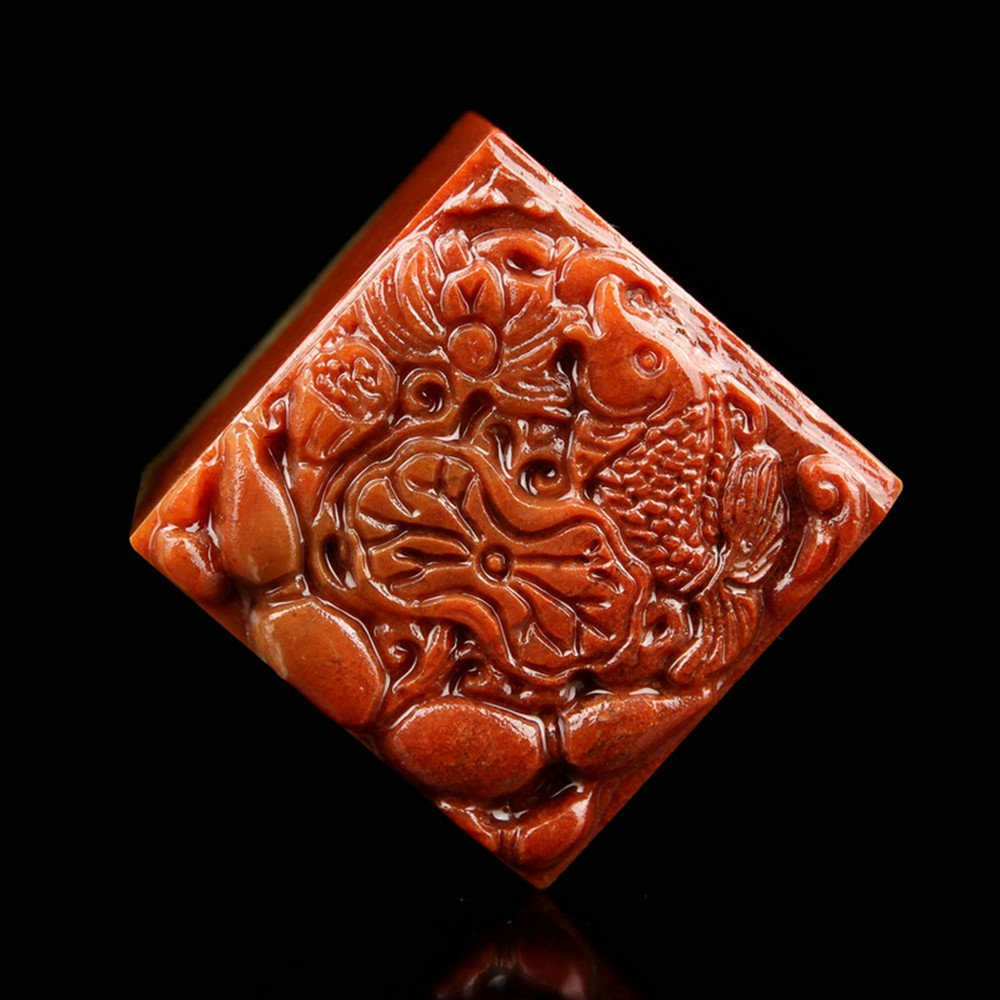 YZ020 Hmay Chinese Name Chop (4cm)/Handmade Carve Personalize Customized Traditional Calligraphy Painting Art Stamp Seal by Hmay Personalize Seal (Image #1)