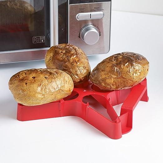Asador de patatas, rojo: Amazon.es: Hogar