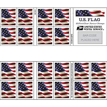 Amazon Com Us Flag Forever Postage Stamps One Book Of 20