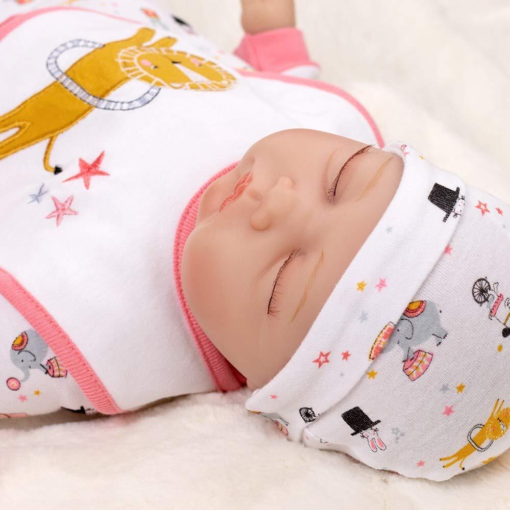 Baby Mädchen 4 Teile Set Body Strampler Latz Handschuhe weiß rosa Welcome to the
