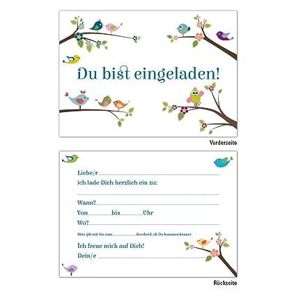 6 tarjetas de invitación DIN A6 Tarjetas de invitación ...