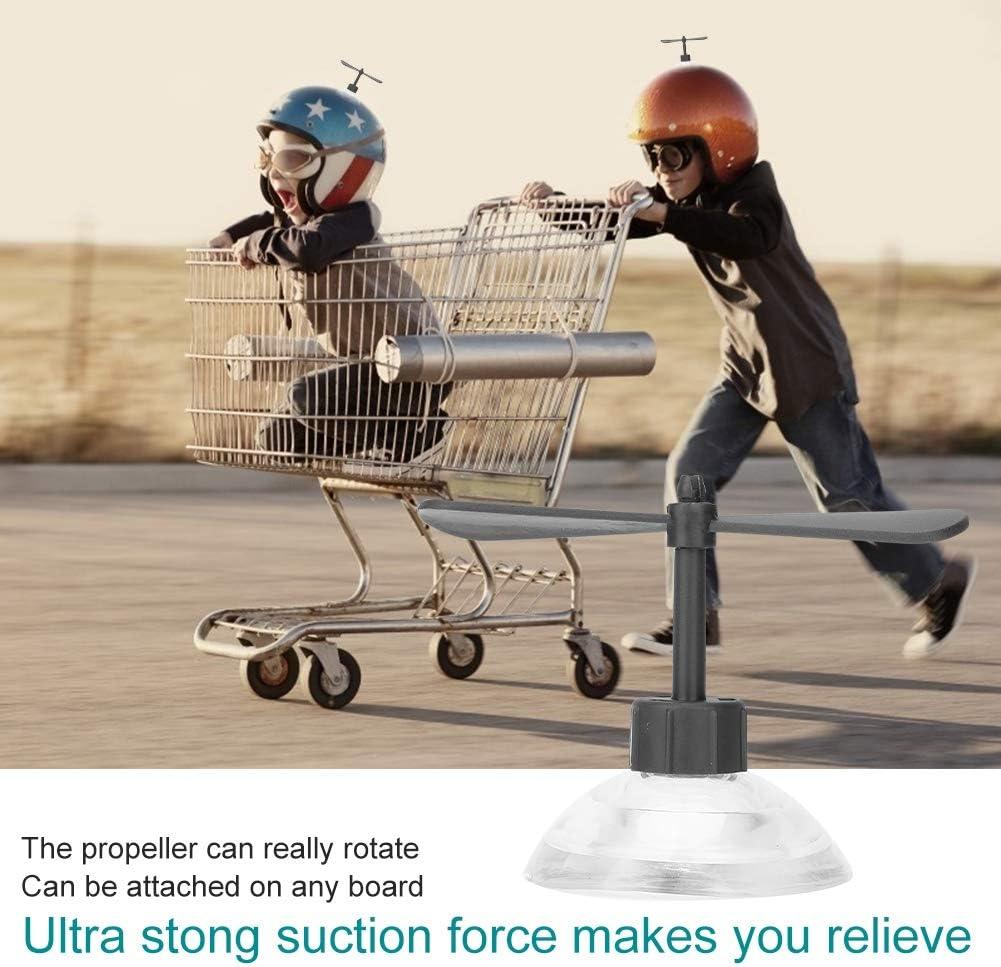 Duokon Helmet Propeller,Decorative Helmet Suction Cup Rubber and Plastic Motorcycle Helmet Propeller Green